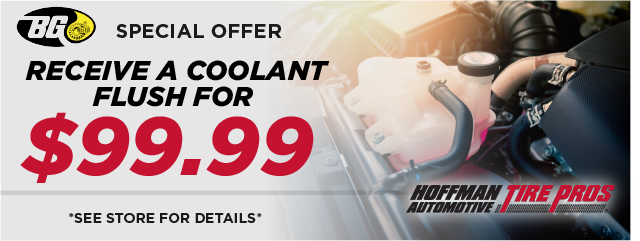 Coolant Flush, only $99.99!